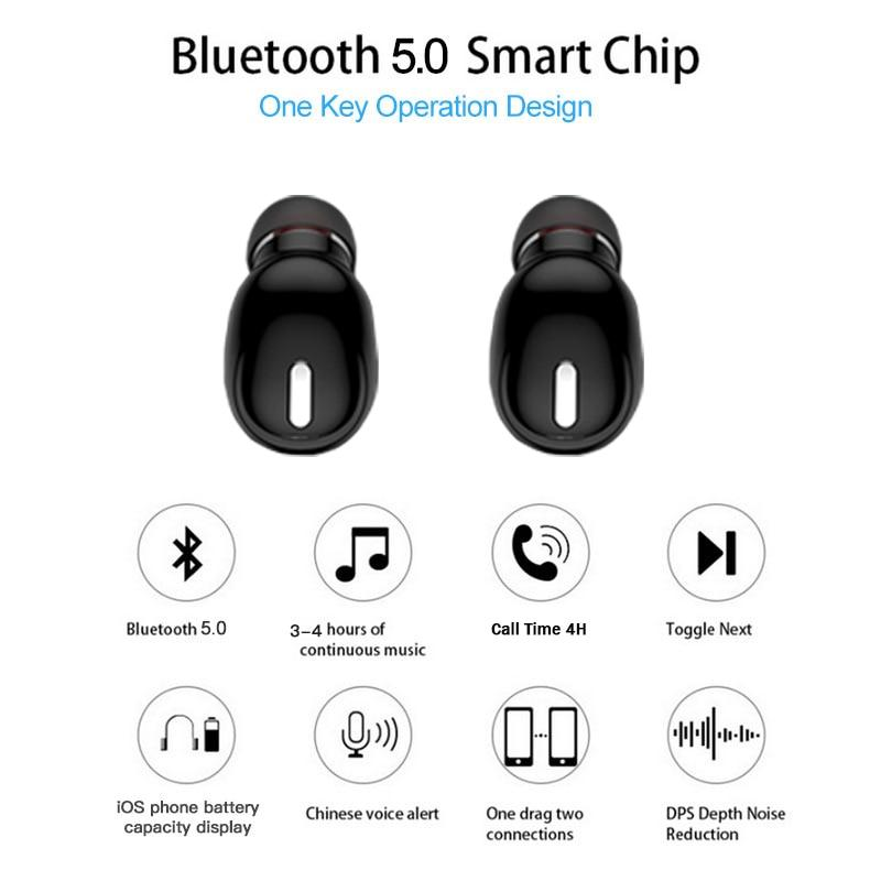 Mini Wireless Earbuds  Bluetooth 5.0 Earphone