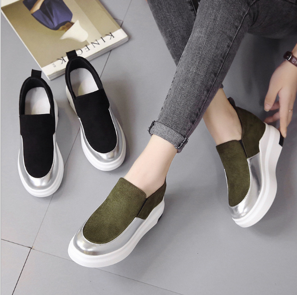 Color Matching Inner Wedge Shoes