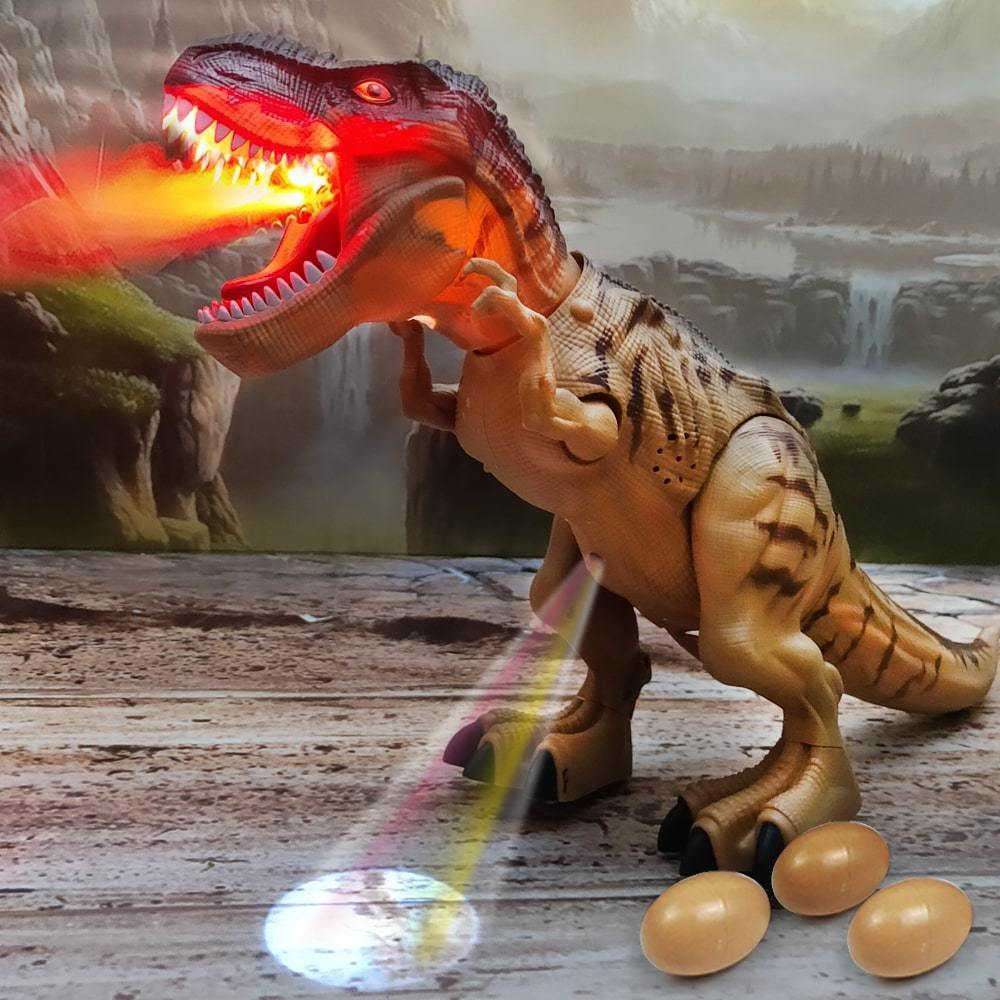Walking T-Rex Toy with LED Projector & Eggs