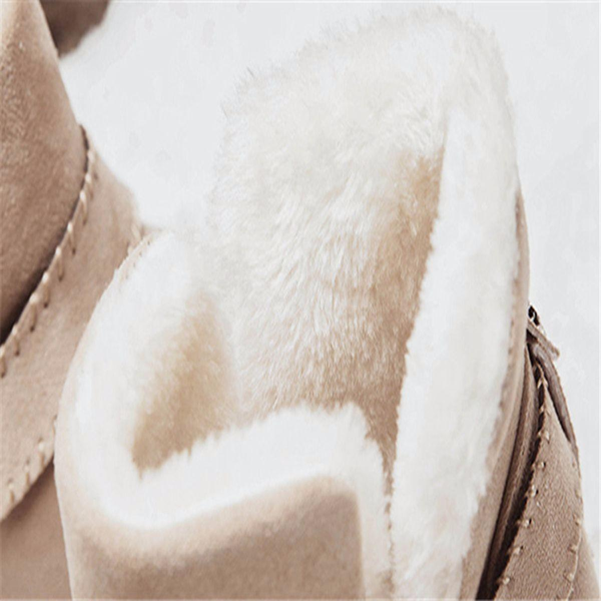 Fur Lining Snow Ankle Short Boots