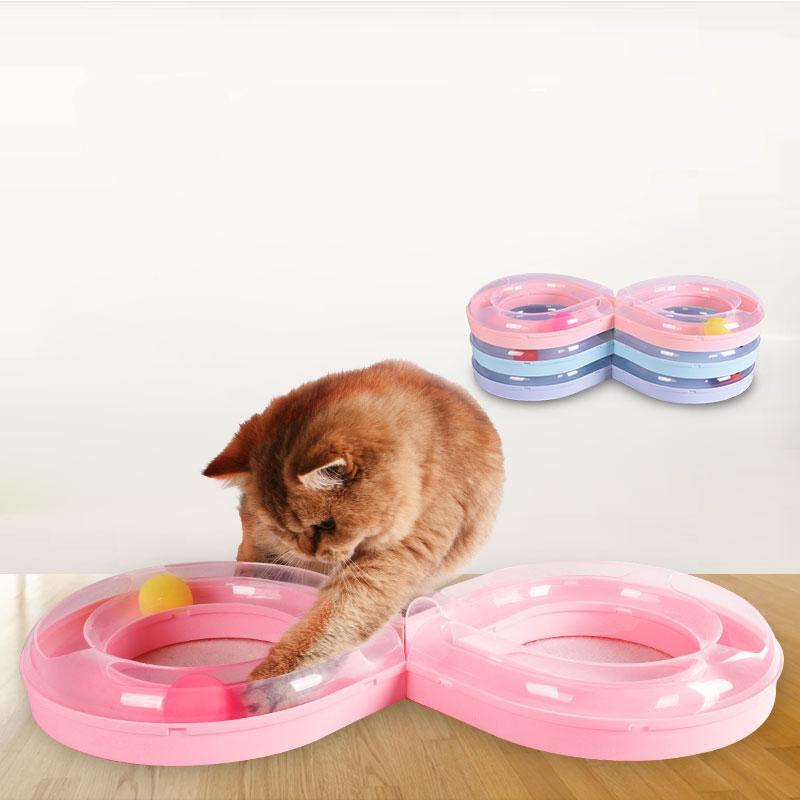 Eight Shaped Cat Track Toy