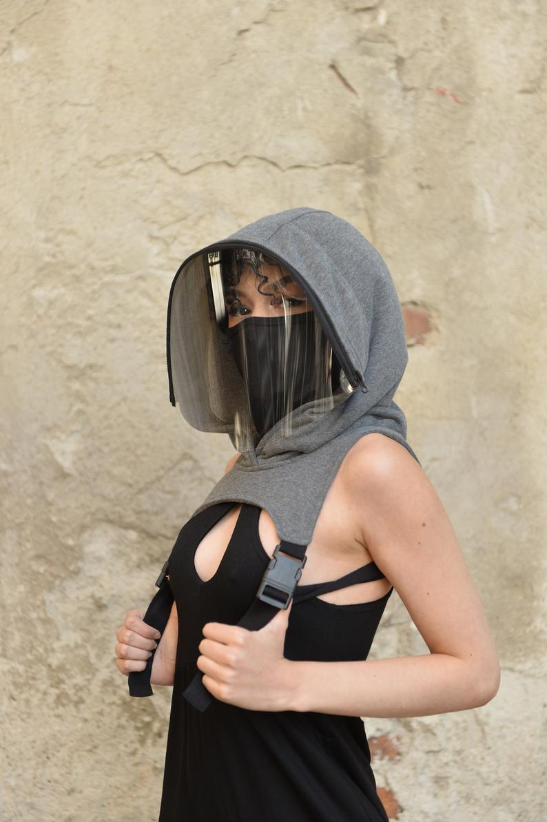 Hooded Removable Full Face Shield