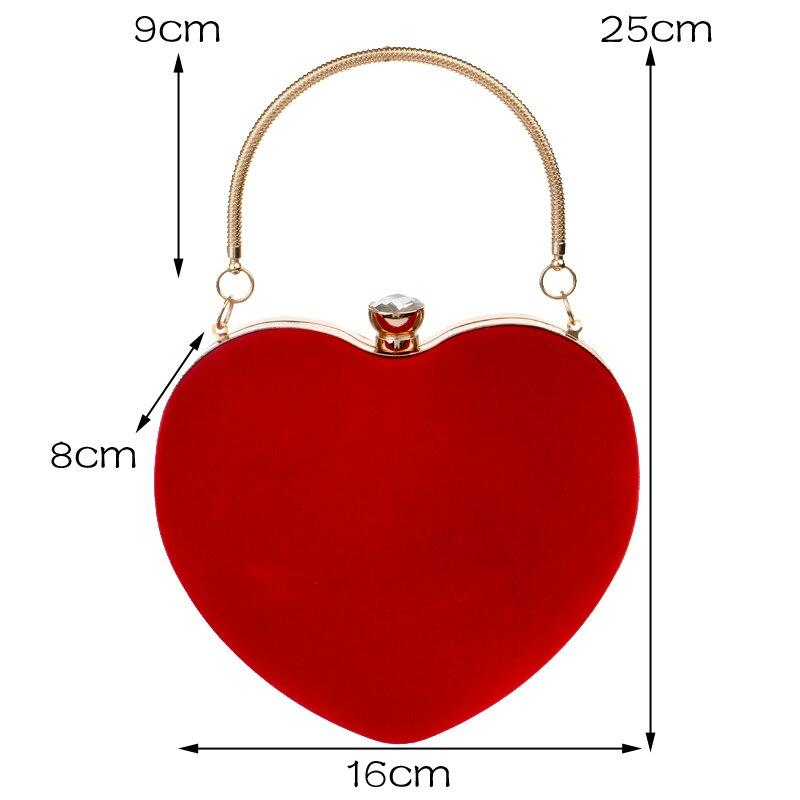 Heart Shaped Diamonds Women Evening Bags