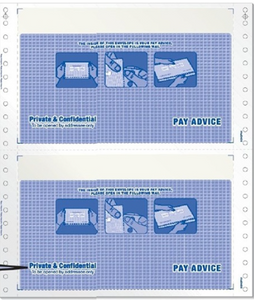 "Pre-Printed Envelope Mailer Form (Payslip) - 9.5"" x 11"" 3 PLY (2UP)"