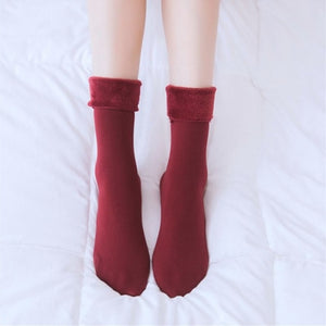 Fur Lined Cozy Winter Socks