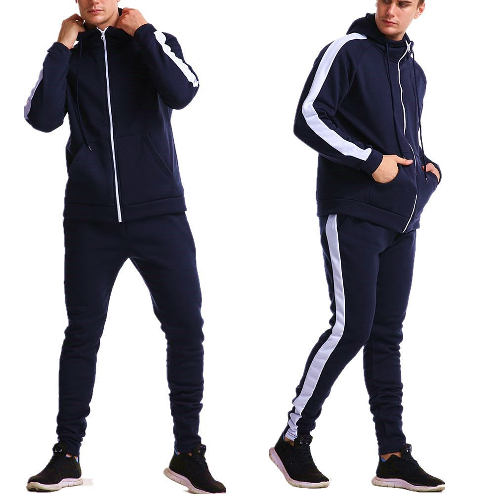 Simple Striped Tracksuit