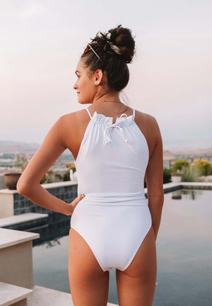 Brooklyn in White One Piece