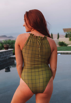 Brooklyn in Olive One Piece