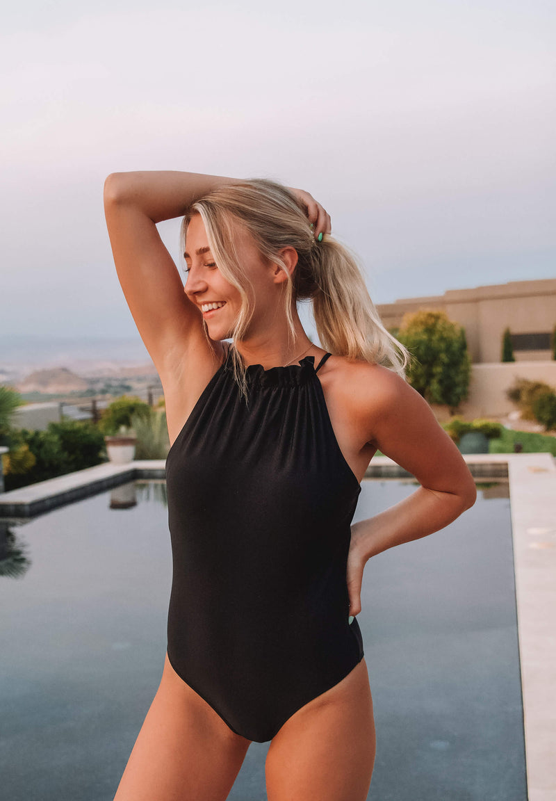 Brooklyn in Black One Piece