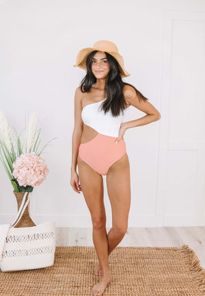 Betty One Piece in Coral