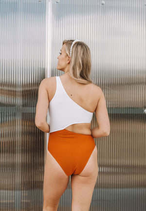 Betty One Piece in Burnt Orange