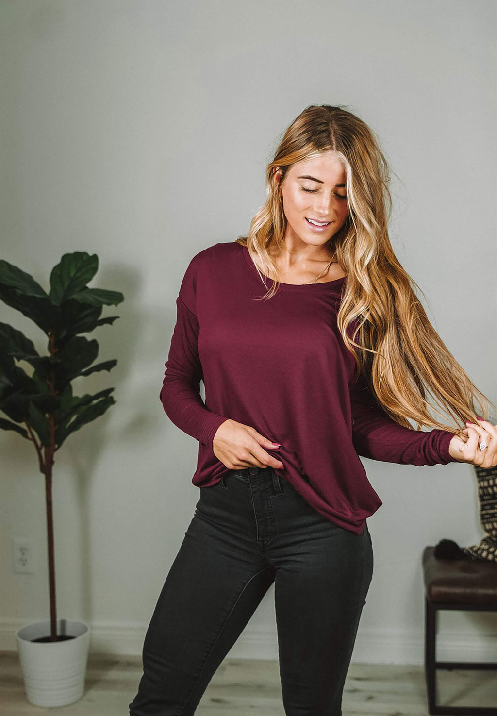 Long Sleeve Flowy Tee