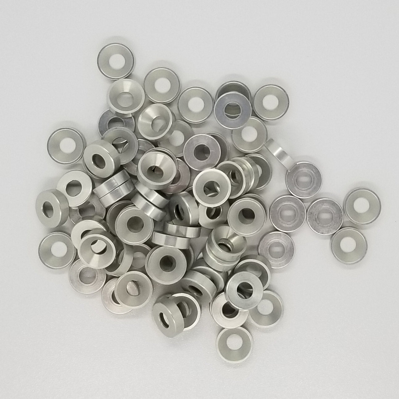 Clear Anodized #8 Finish Washer