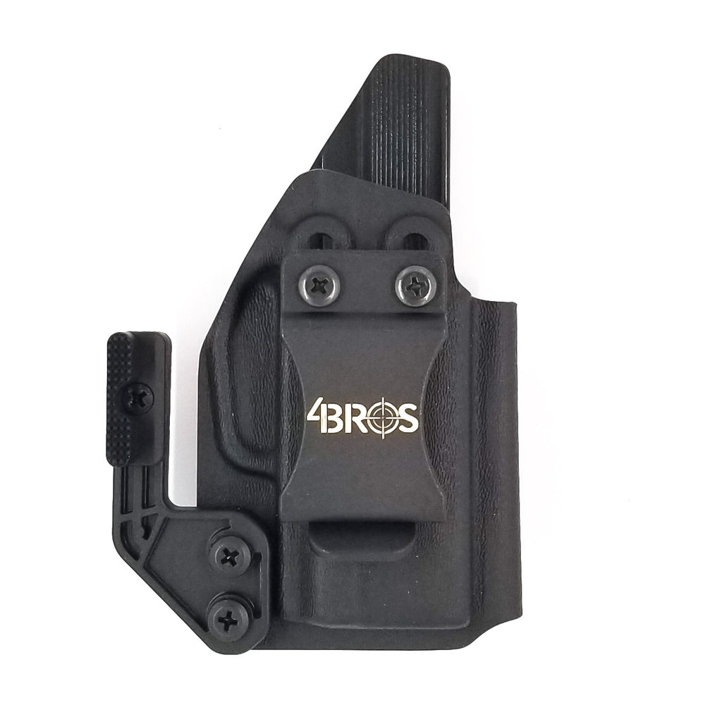This is our Sig P365 Inside Waistband Gas Pedal Holster in black with the Modwing attached.