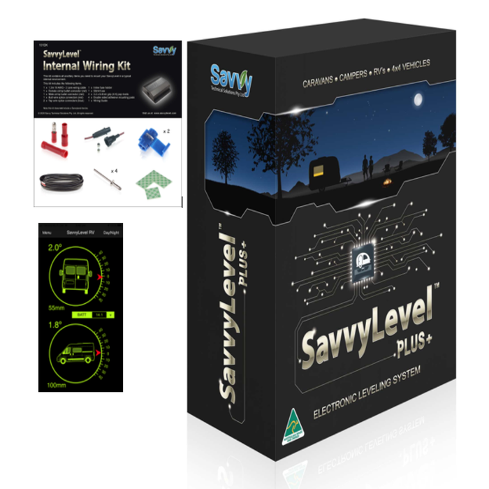 SavvyLevelRV for Motorhomes & Internal Wiring Kit