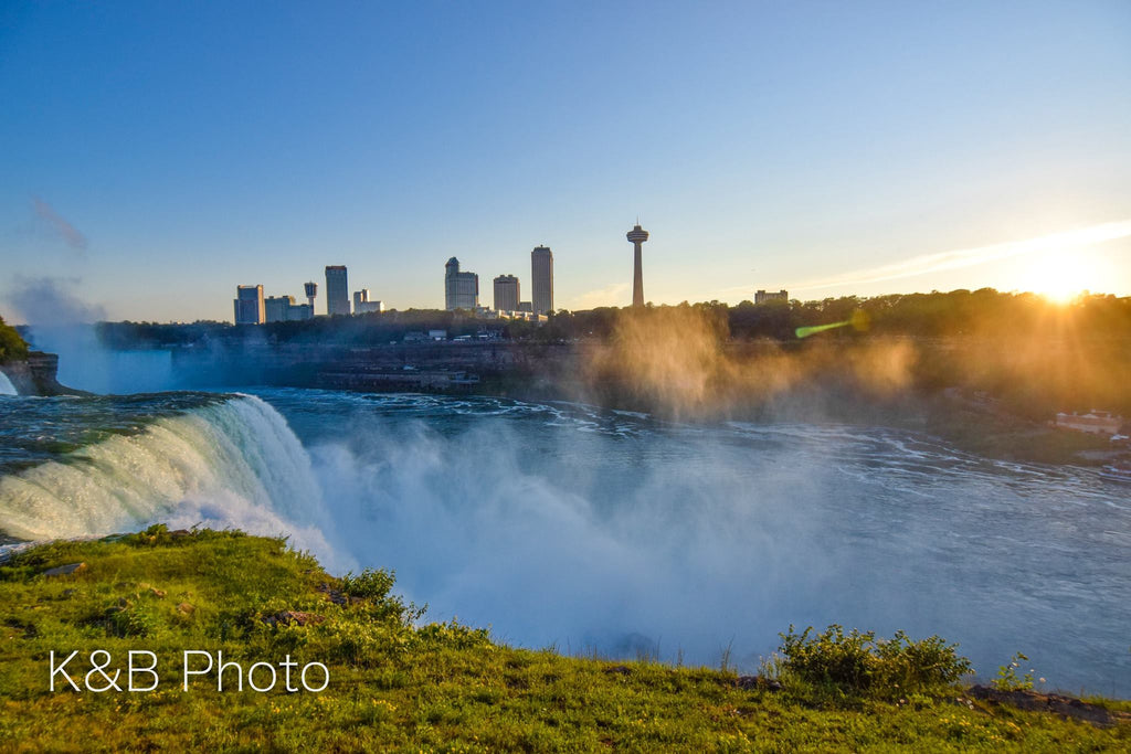 Niagara Falls, NY at sunset