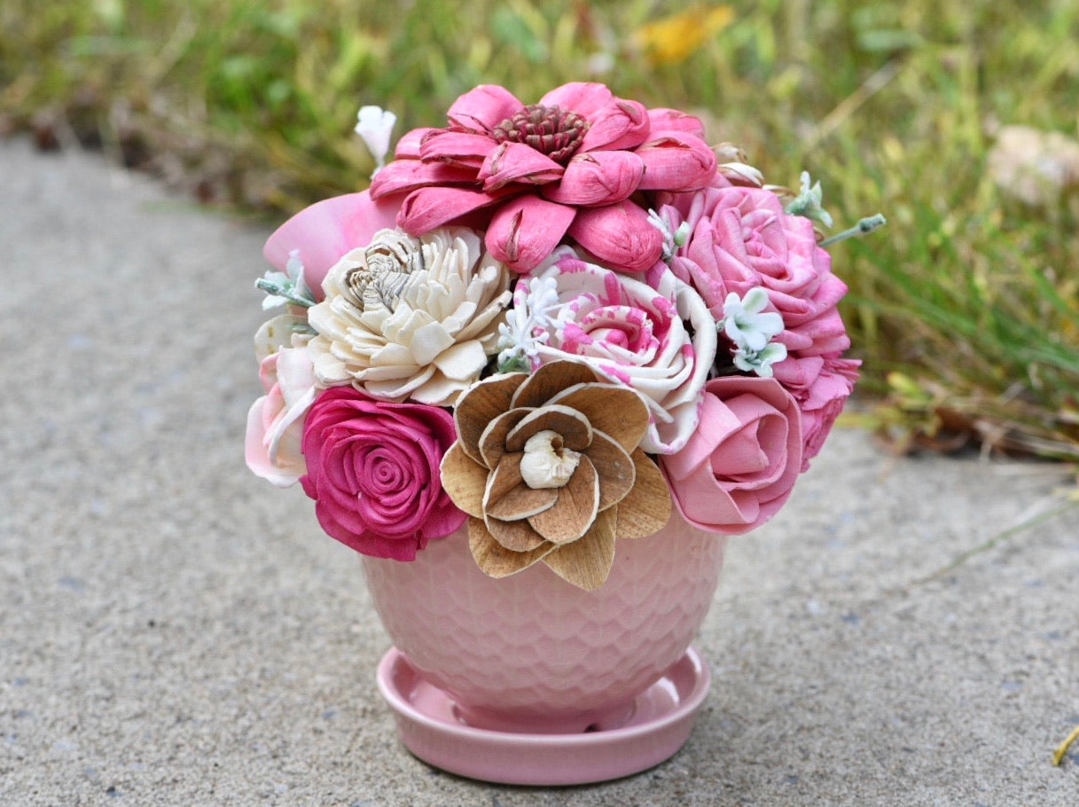Think Pink Planter (Breast Cancer Awareness)
