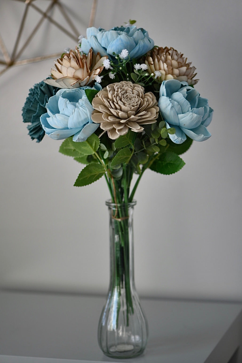 Blue and Dark Teal Bouquet