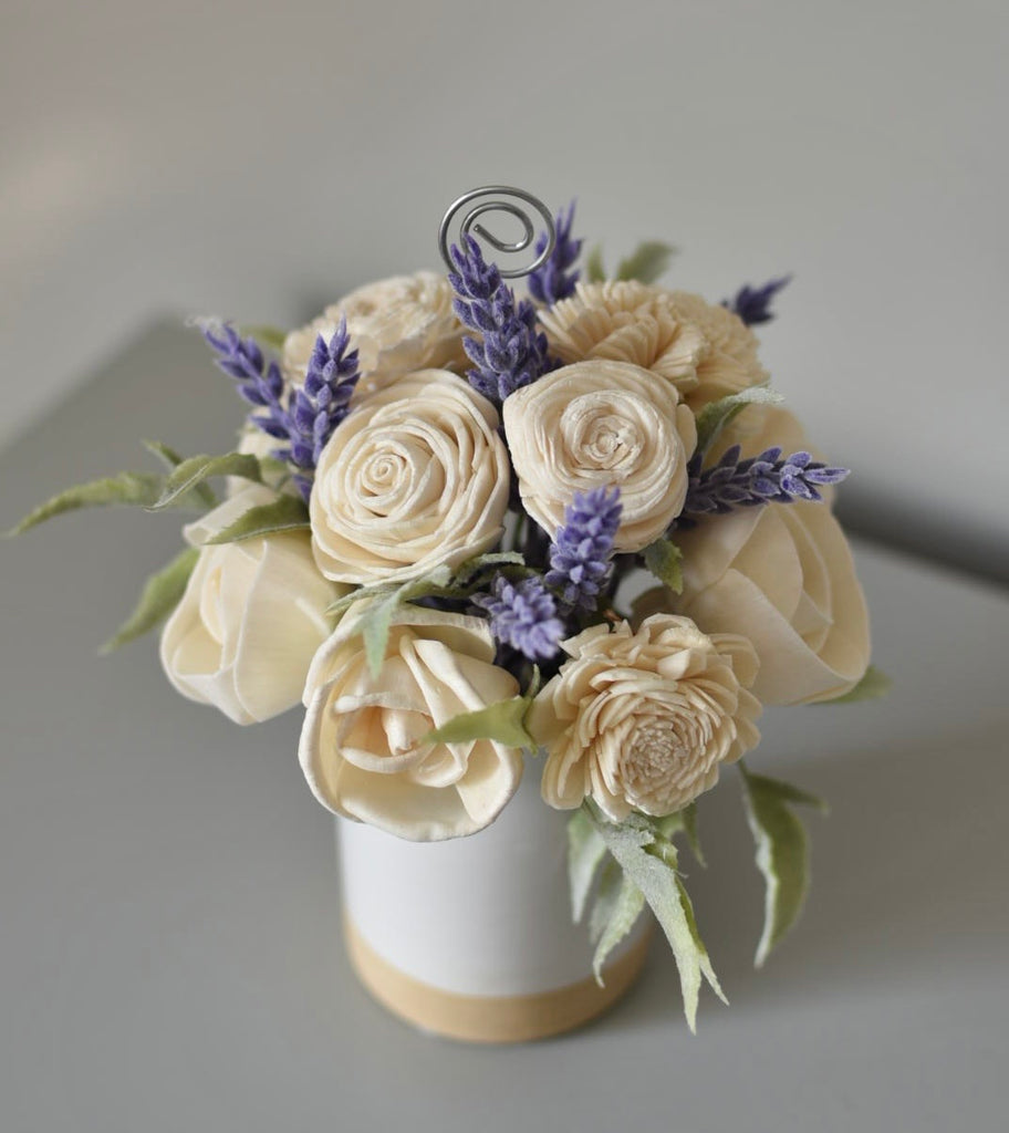 Ivory and Lavender Picture Holder