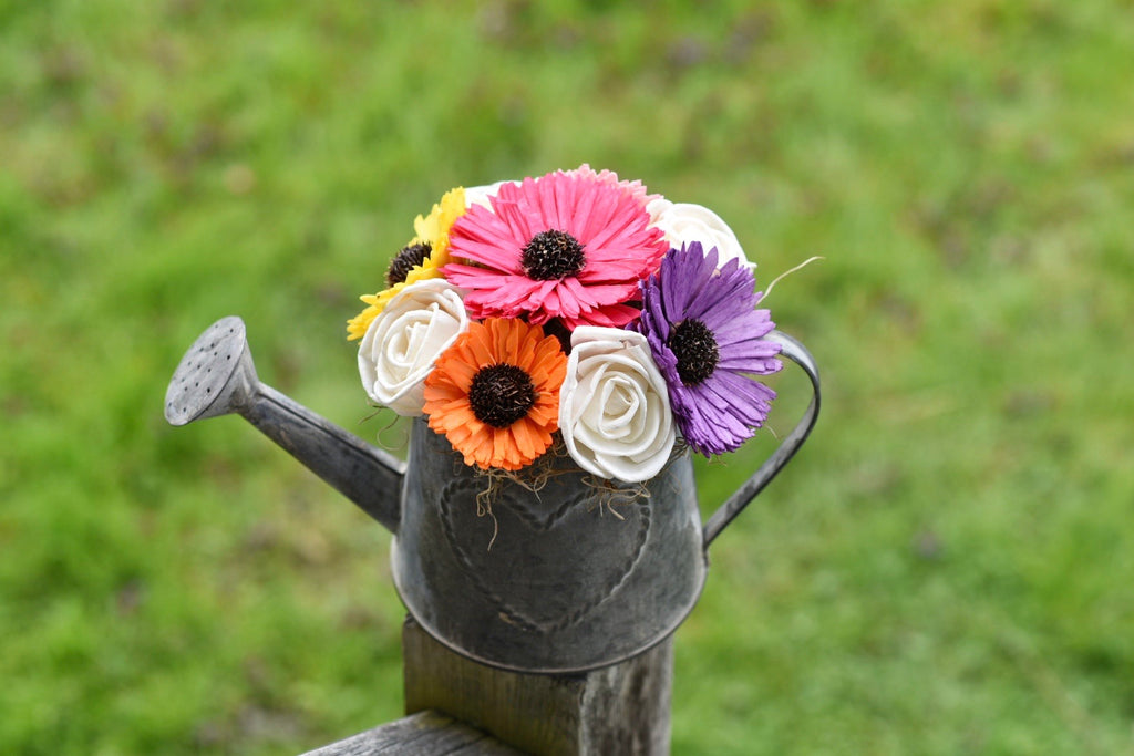Gerbera Daisy Watering Can