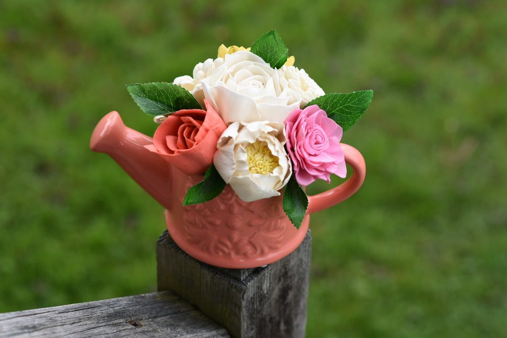 Colorful Coral Ceramic Watering Can