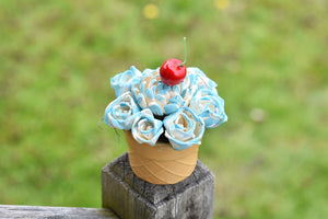 Light Blue Ice Cream Sundae