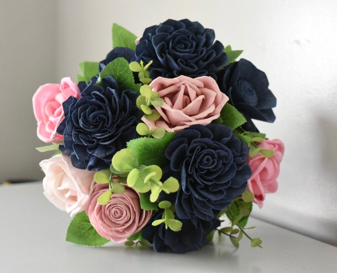 Navy and Pinks Bouquet