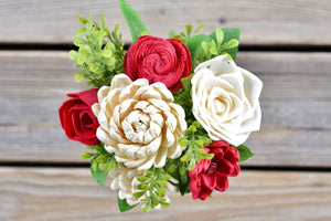 Red & Ivory Mini Bouquet