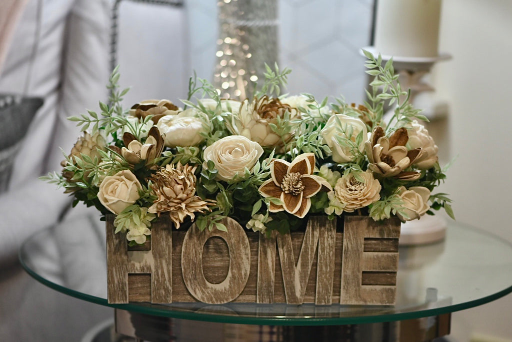 """Home"" Wood Centerpiece *MADE TO ORDER*"