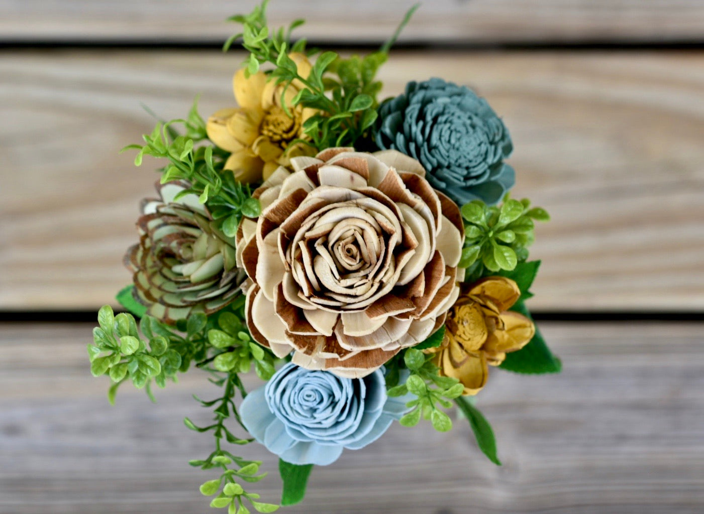 Blues and Yellow Mini Bouquet