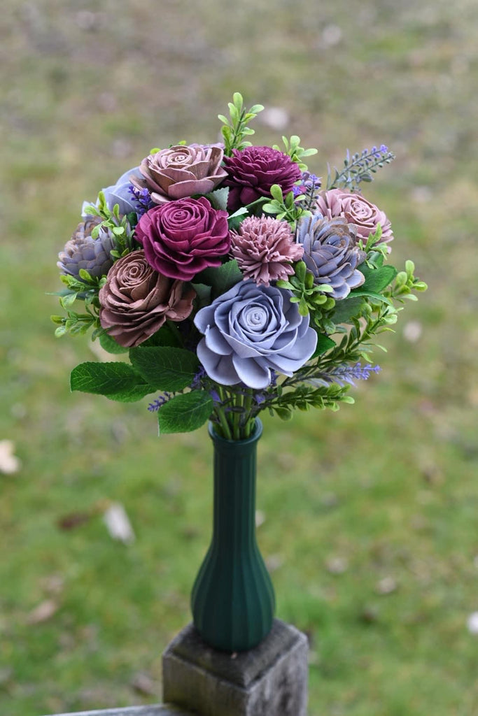 Reserved Purple Haze Wedding Bouquet & 4 Single Stems for Amanda