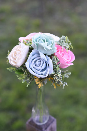 Soft Colored Rose Bouquet
