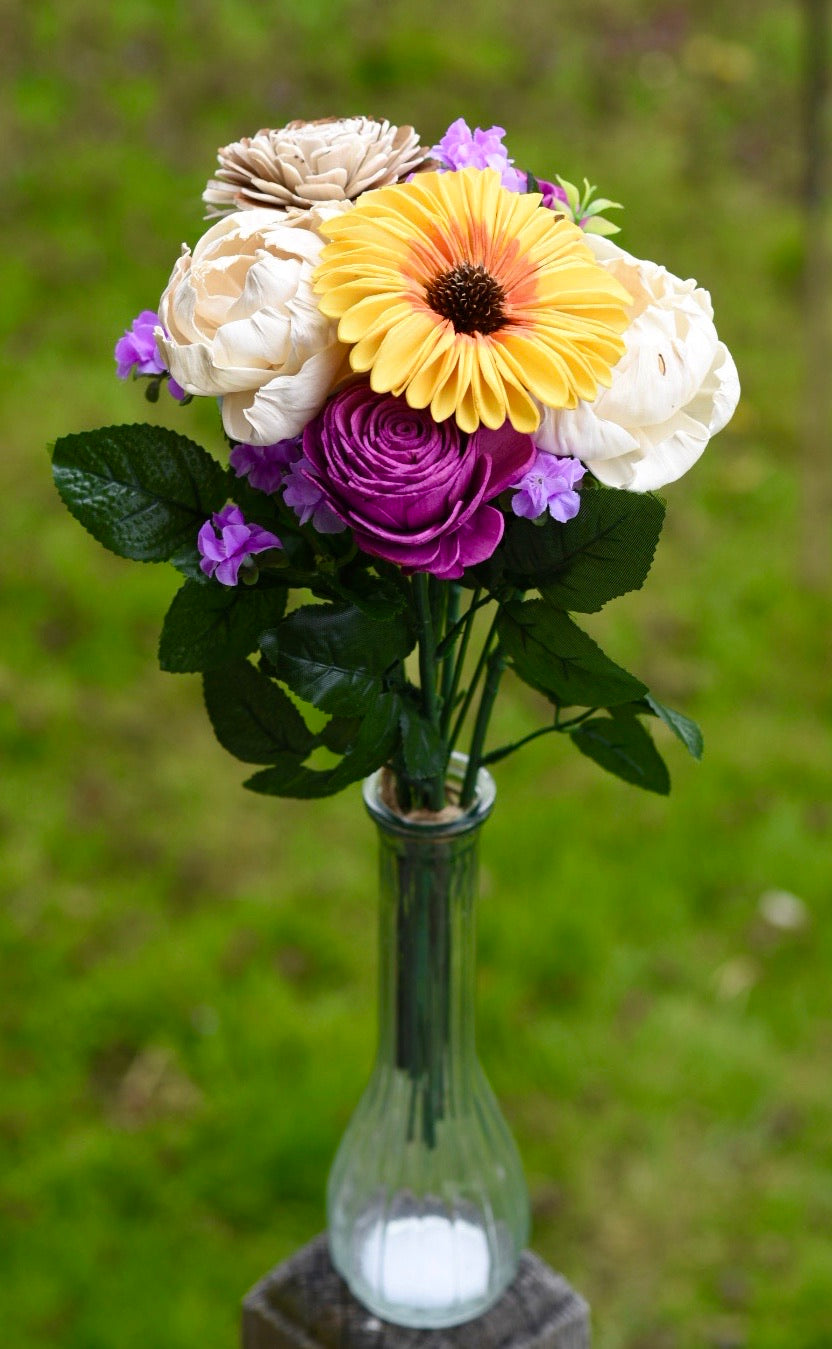 Sunflower, Purples and Peonies