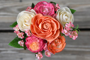 Bright Orange and Pink Mini Bouquet