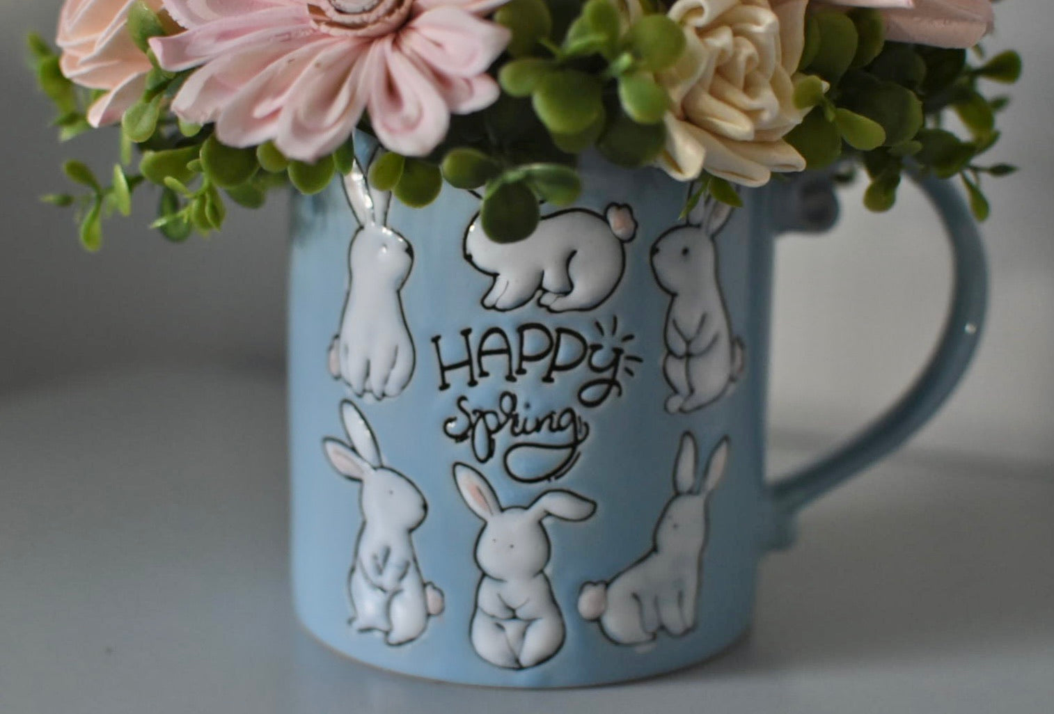 """Happy Spring"" Mug Arrangement"