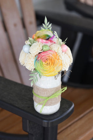 Rainbow and Ivory Mason Jar