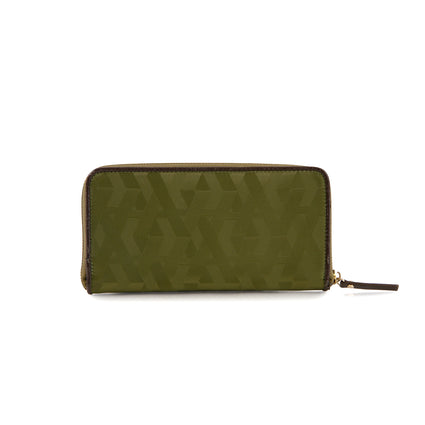 Signature Jacquard Nylon Zippered Wallet -Olive