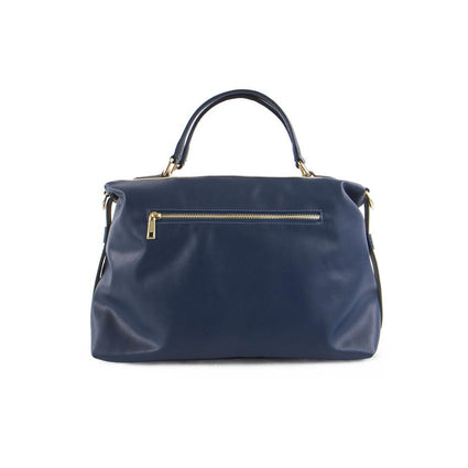 True Blue Colour Block Barrel Satchel - Navy/Bone