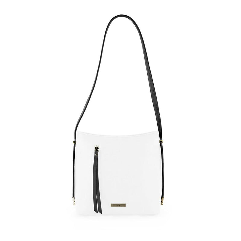 True Blue Colour Block Shoulder Bag - Black/White