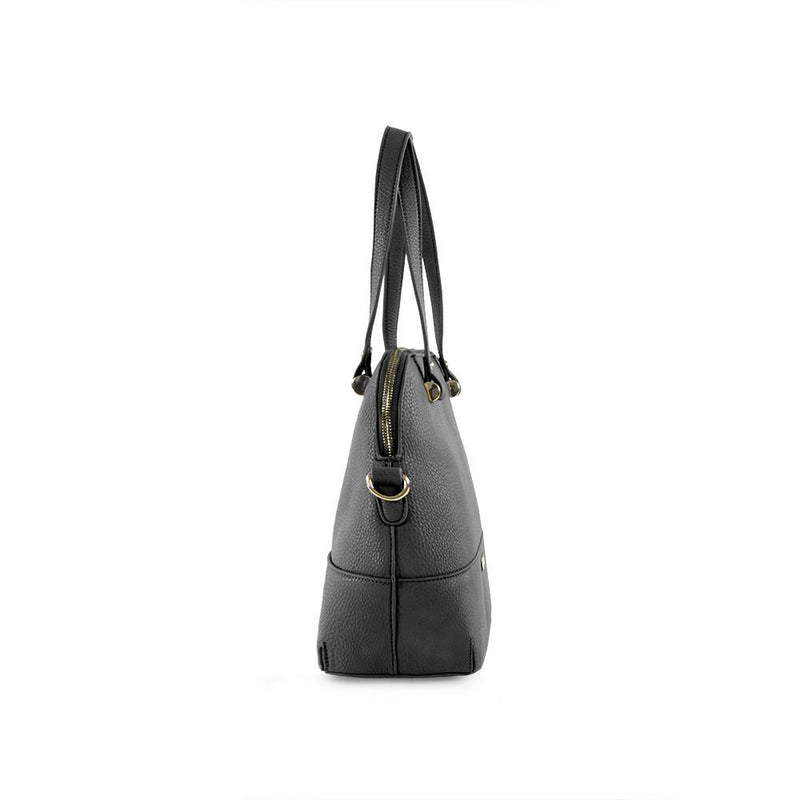 True Blue Dome Satchel Black