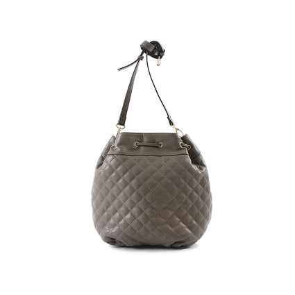 La Mode Square Quilted Drawstring - Grey
