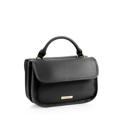 La Mode Mini Dual-Flap Crossbody - Black