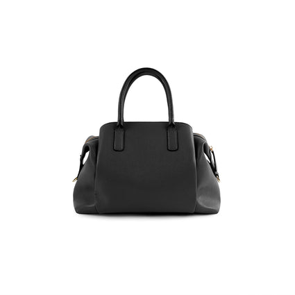 La Mode Quilted Dome Satchel - Black