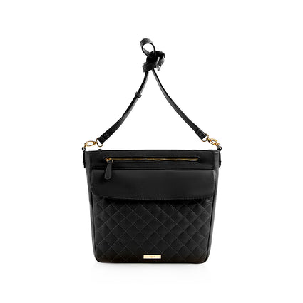 La Mode Quilted Crossbody - Black