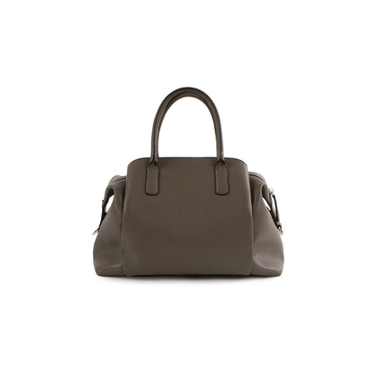 La Mode Quilted Dome Satchel - Grey