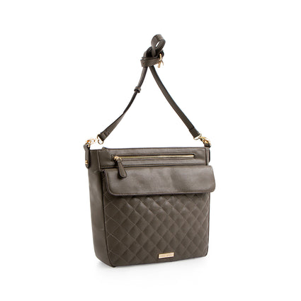 La Mode Quilted Crossbody - Grey