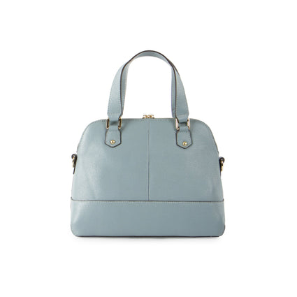 Parisian Small Leather Satchel - Stone Blue