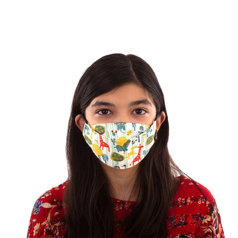 Kids Reusable Fashion Face Mask - Animals