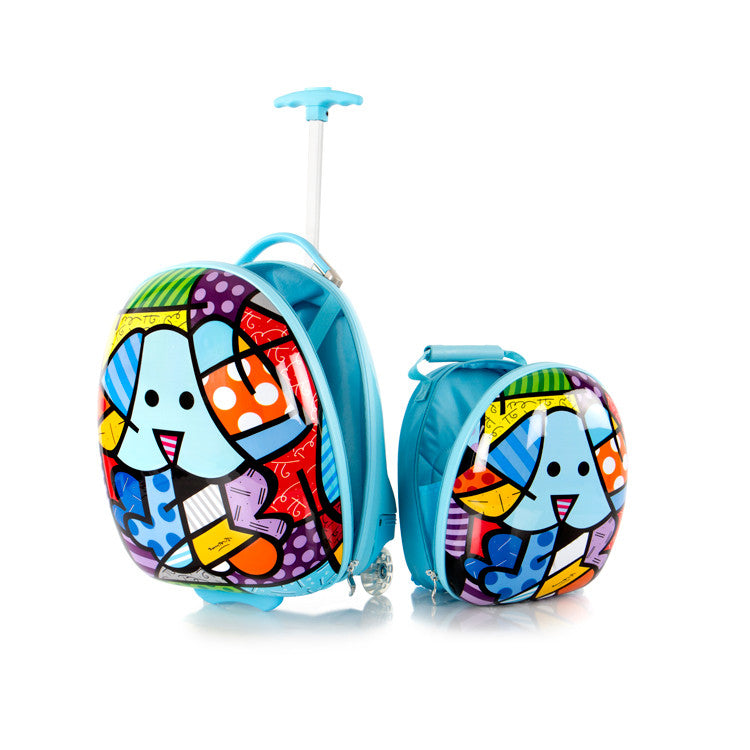 Britto for Kids - Luggage and Backpack Set - Blue Dog