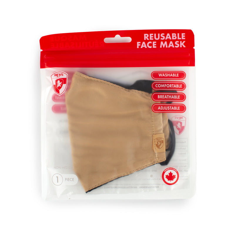 Reusable Face Masks - Leopard and Nude